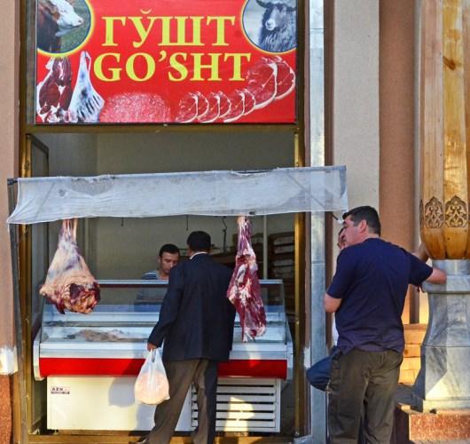 Samarkand - Siyob Bazaar - Meat