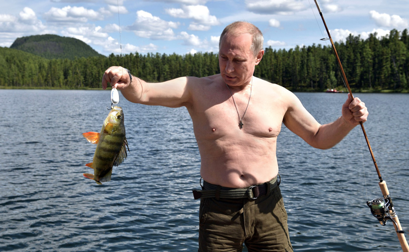 Vladimir Putin Fishing in Siberia