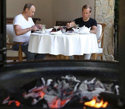 Vladimir Putin and Dmitry Medvedev