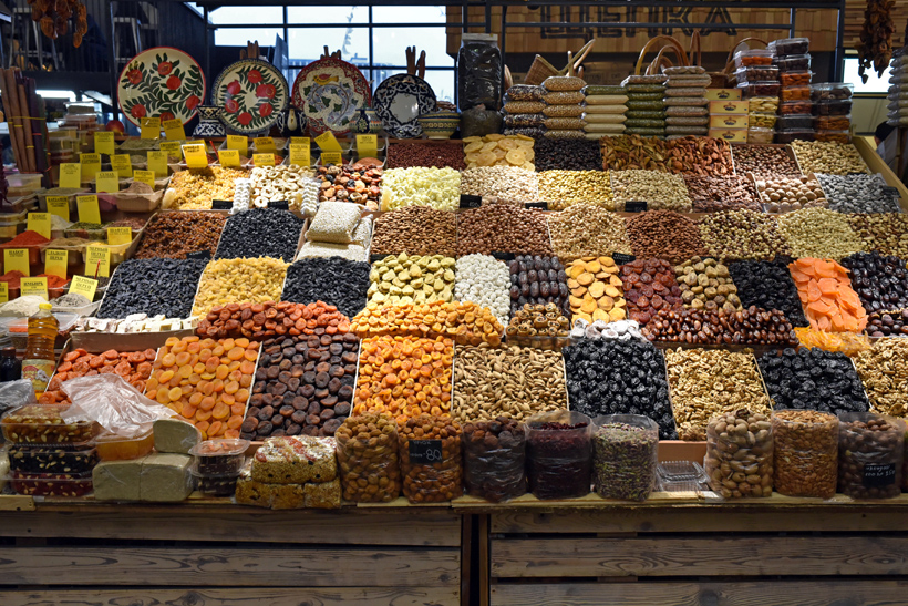 Moscow - Danilovsky Market - Dried Fruits and Nuts
