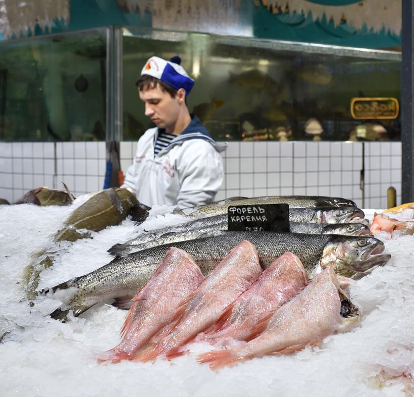 Moscow - Danilovsky Market - Seafood