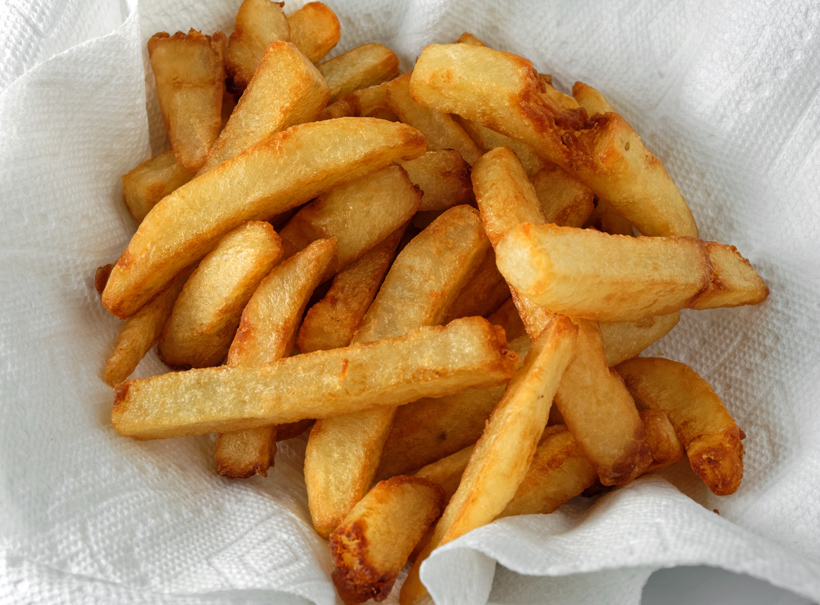 Russian Gastrocafé Goose Burger - French Fries