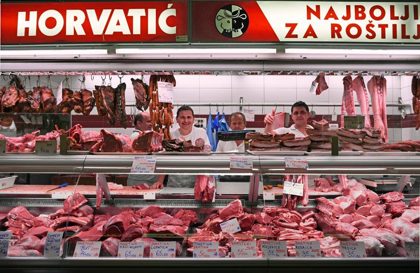 Zagreb - Dolac Market - Meat