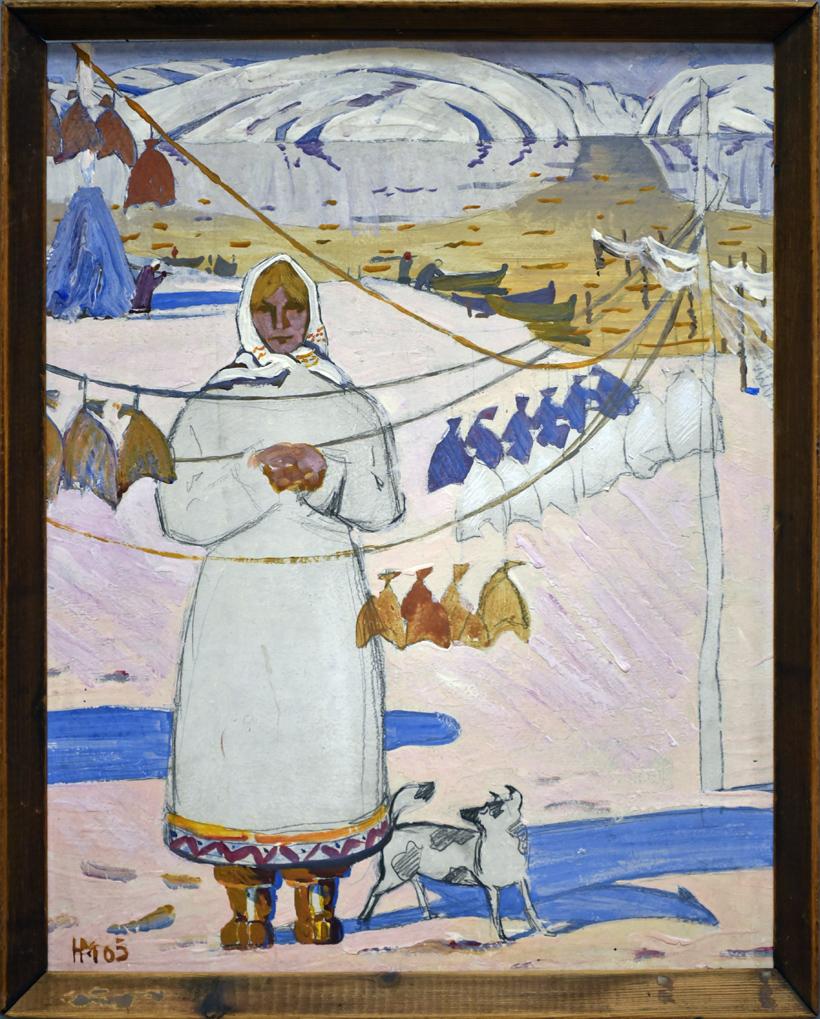 Nikolay Morozov - Fisherwoman (1965)