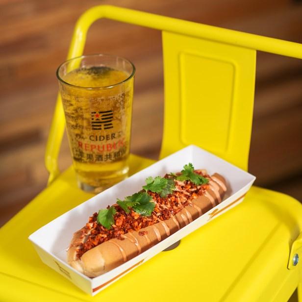 Reuben Hot Dog at Dog House Shanghai