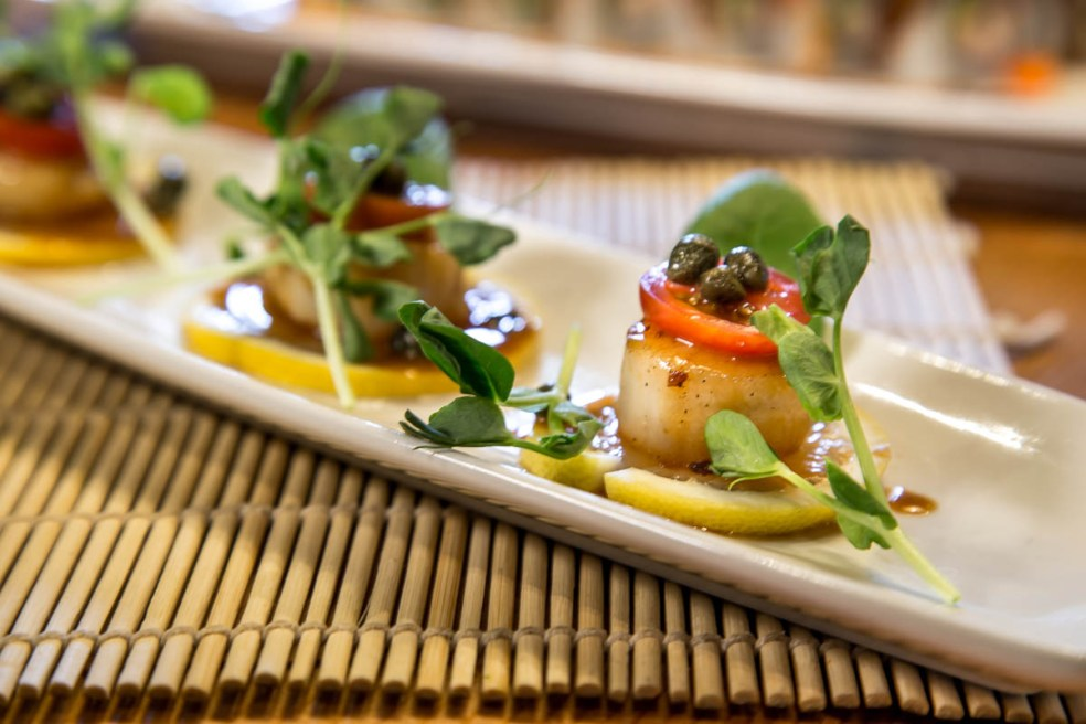 Scallop by Food photographer vancouver