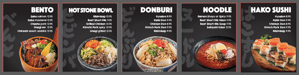 restaurant menu design mockups