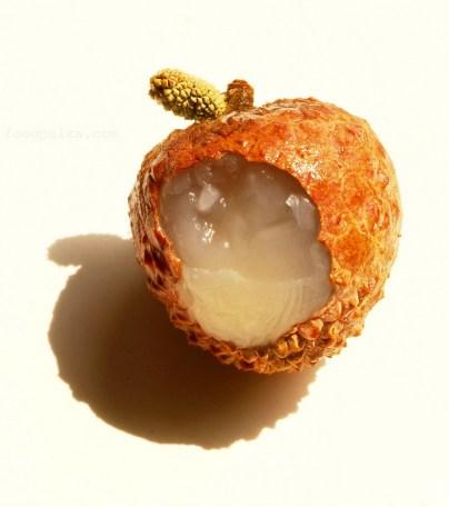 lychee in the sun