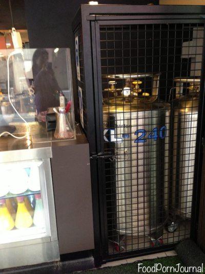 The liquid nitrogen tank