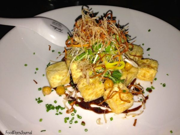 Silken tofu, crispy chickpeas, taro slaw, yellow bean sauce
