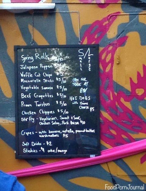 Mandalay Bus menu