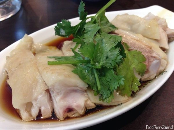 Close up of the steamed chicken - how moist does it look? yum!
