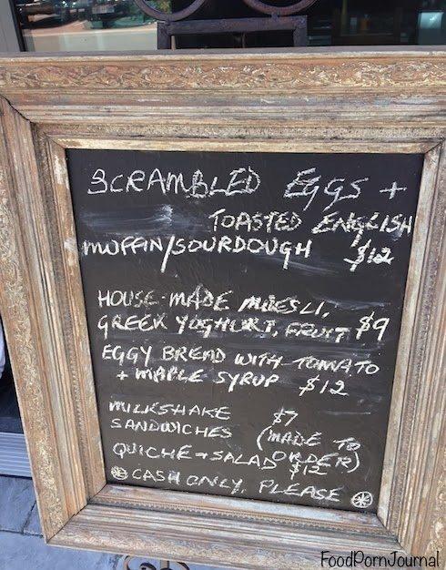 Mrs Sackville Kingston menu