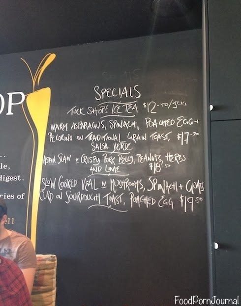 Tuck Shop Northbridge menu