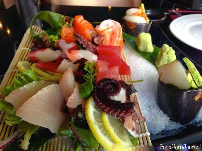 Grill and Sizzle sashimi platter