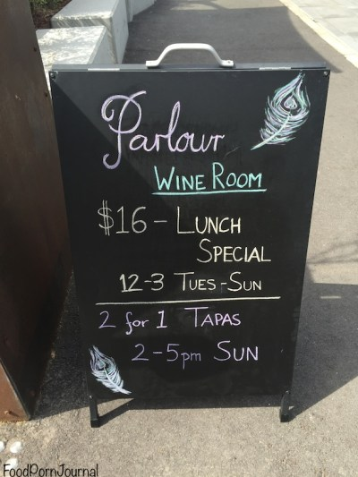 Parlour Wine Room $16 lunch special