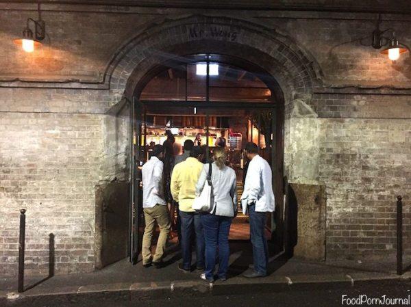 Mr Wong Sydney entrance
