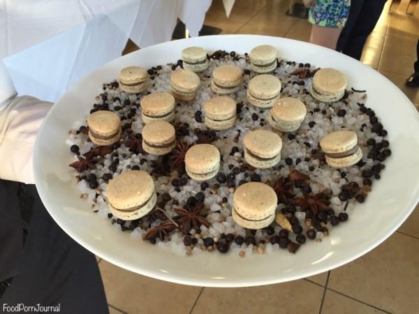 Muse Restaurant mushroom sage macarons
