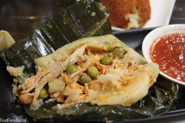 Chicken tamale inside