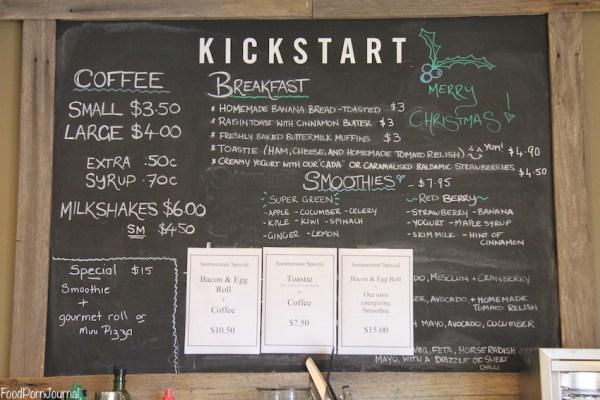 Kickstart Espresso menu