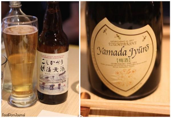 LiloTang Barton beer and plum sake