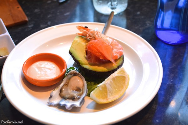 Maestral seafood stuffed avocado