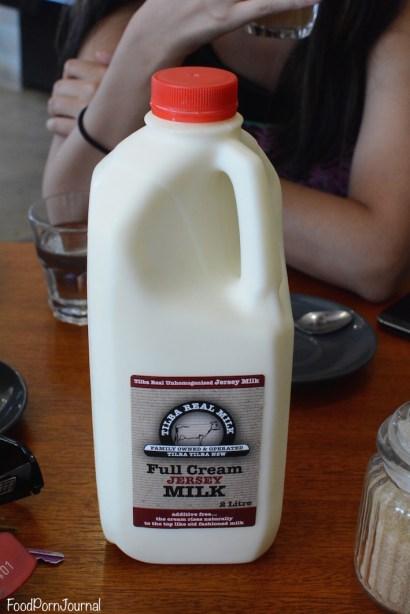 Fox and Bow Cafe Tilba milk