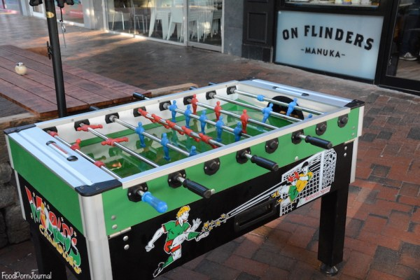 On Flinders Manuka foosball table