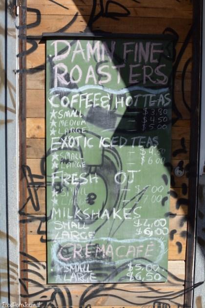 Westside Damn Fine Coffee menu