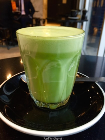 Maple and Clove matcha almond latte