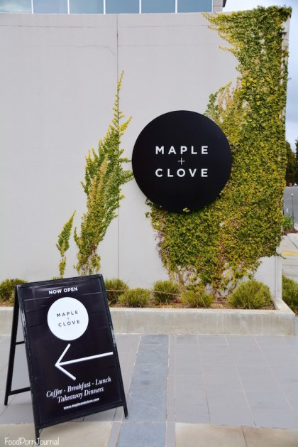 Maple and Clove signage