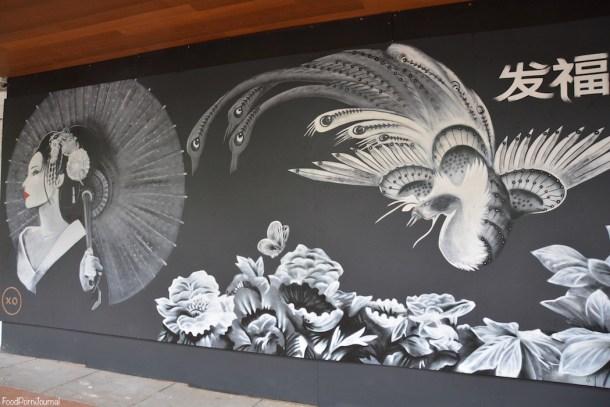 XO restaurant artwork