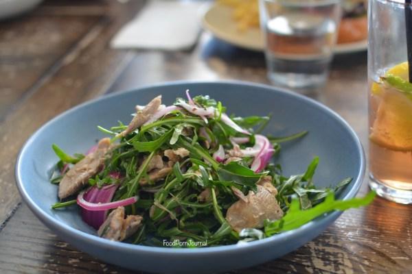 Walt and Burley Kingston duck salad