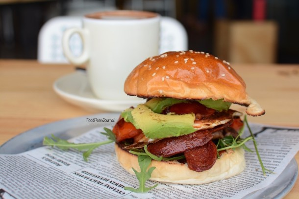 Beef & Barley Kingston Foreshore breakfast burger
