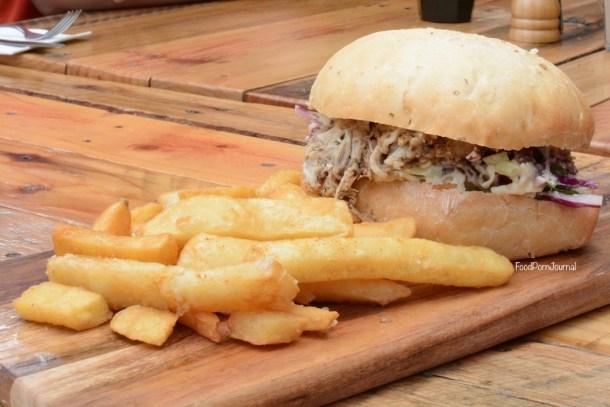 Frankies at Forde pulled pork burger