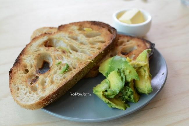 Three Mills Bakery toast avocado