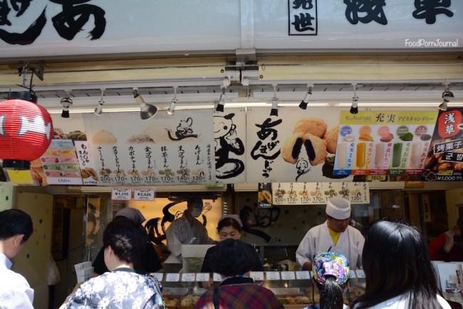 Tokyo Asakusa Nakamise age manju stall