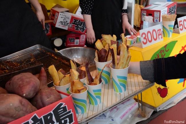 Japan Kanazawa street food sweet potato