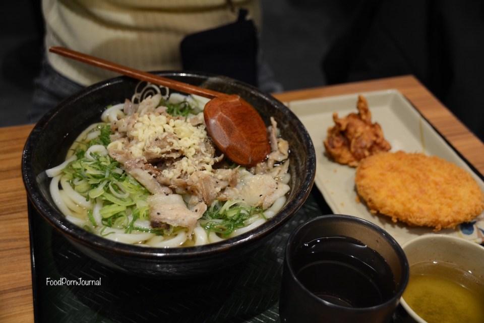 Japan Nagano sanuki Udon pork set