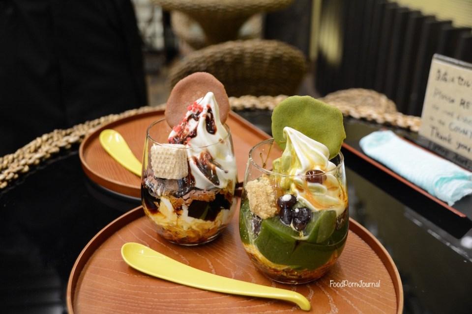 Japan Takayama Old Town dessert sundaes