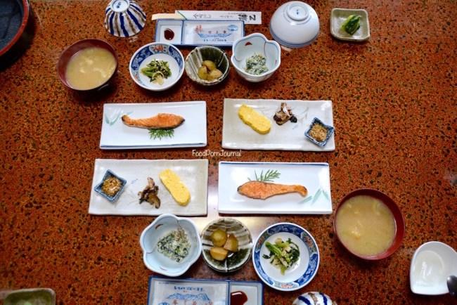 Japan Tsumago Fujioto breakfast