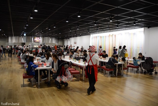 Osaka Japan Momofuku Cup Noodle Museum the crowd