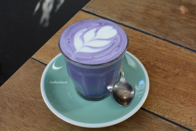 The Glass Den Coburg Melbourne taro latte