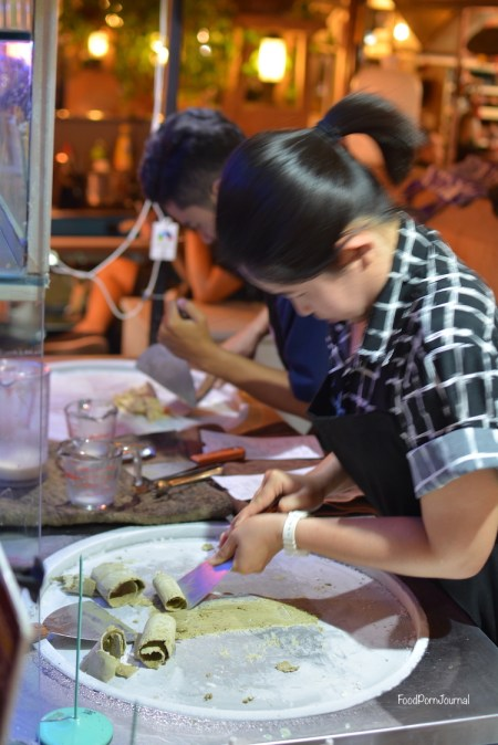 Chiang Mai Teelek ice cream making