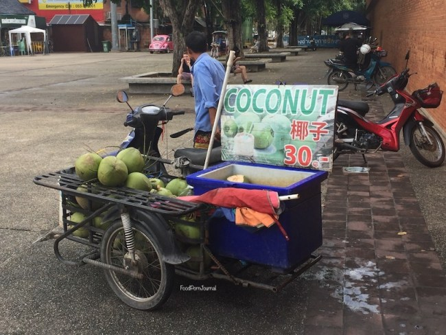Chiang Mai coconut stand