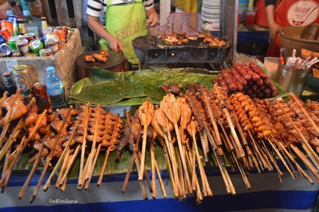 Luang Prabang Night Markets skewers