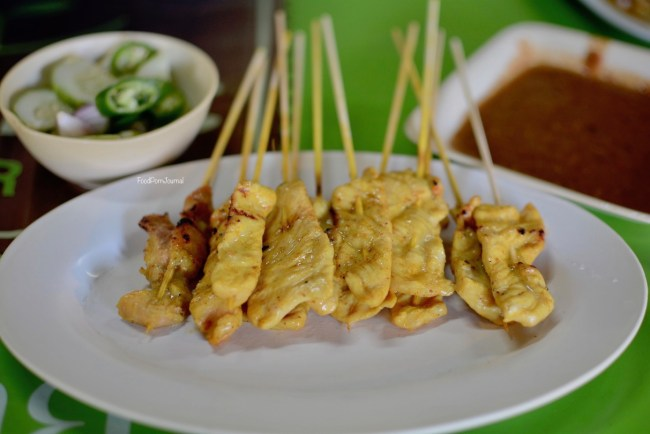 Chiang mai chicken satay skewers