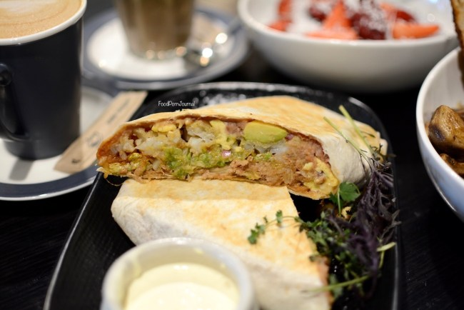 The Duxton breakfast burrito