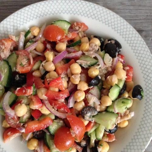 Kikkererwten salade /  Chickpea salad