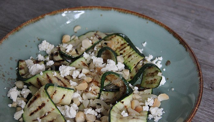 Courgette feta noten